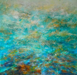 Reflections on Water mixed media