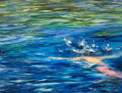 Reflections on Water oil mixed media on canvas