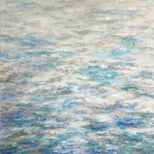 Reflections on Water mixed media on canvas