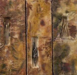 Tricia  Simmons    Wild Lily Art Studio Encaustic Pieces Encaustic Mixed Media
