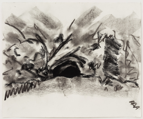 William Staples Drawings Charcoal on paper.