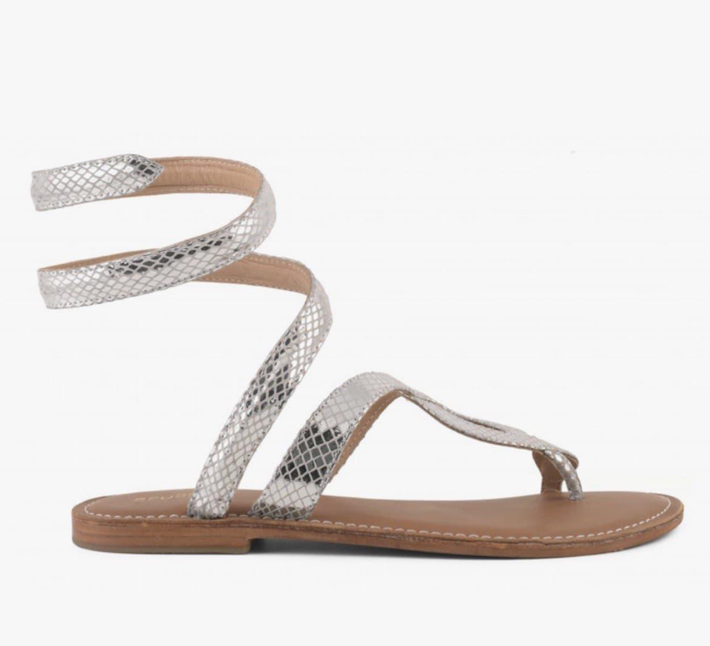 schiava rettile laminato CB FUSION   Sandalo   R217037SIL