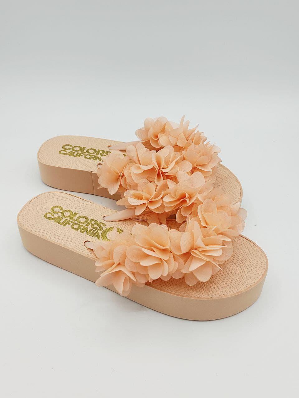 flat fiori applicati Colors of california   Infradito   HCEJPOLE011RSA