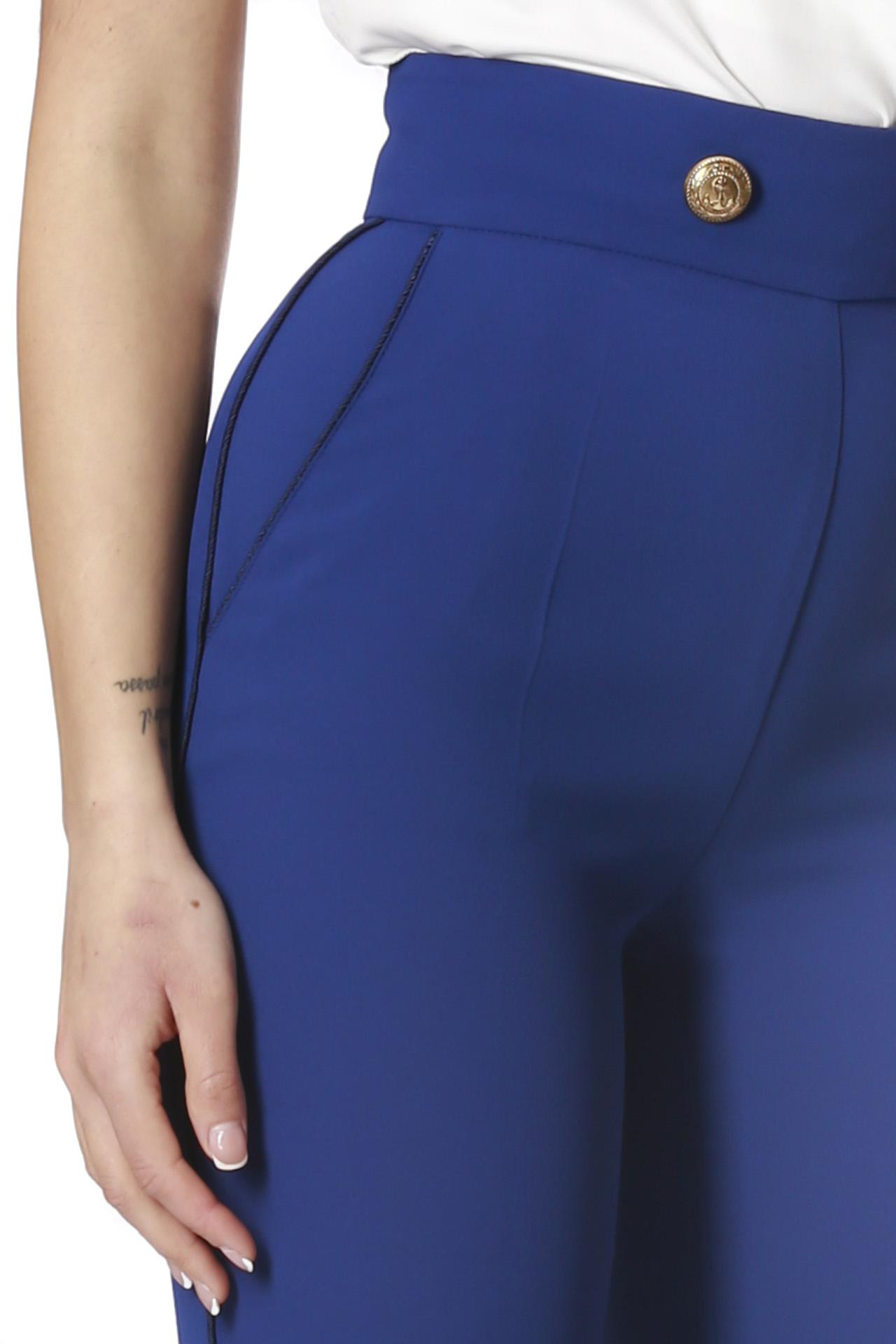 new york crepe coda di topo ELISABETTA FRANCHI | Pantalone | PA05501E2Y01