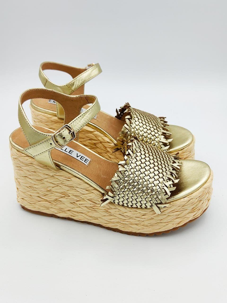fascia pelle intrecciata cinturino caviglia EMANUèLLE VEE   Sandalo   411M80627P005