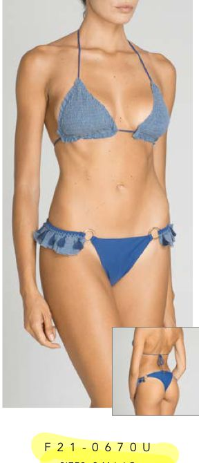 summer love triangolo froisse slip volant fianchi f**K | Costume | F210670UDE