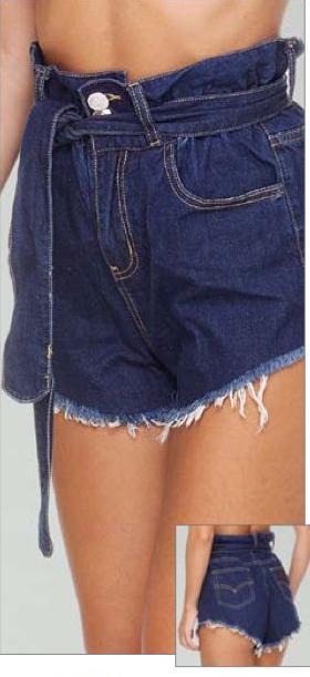 summer love  sfrangiato cintura f**K | Shorts | F210679BLDE
