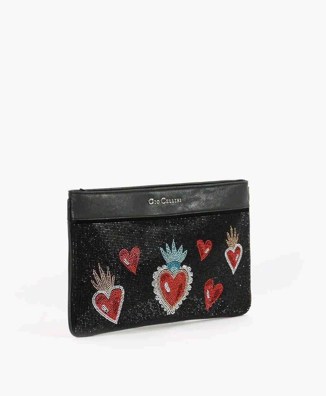piatta swarosky cuore sacro GIO CELLINI   Pochette   DD014NE