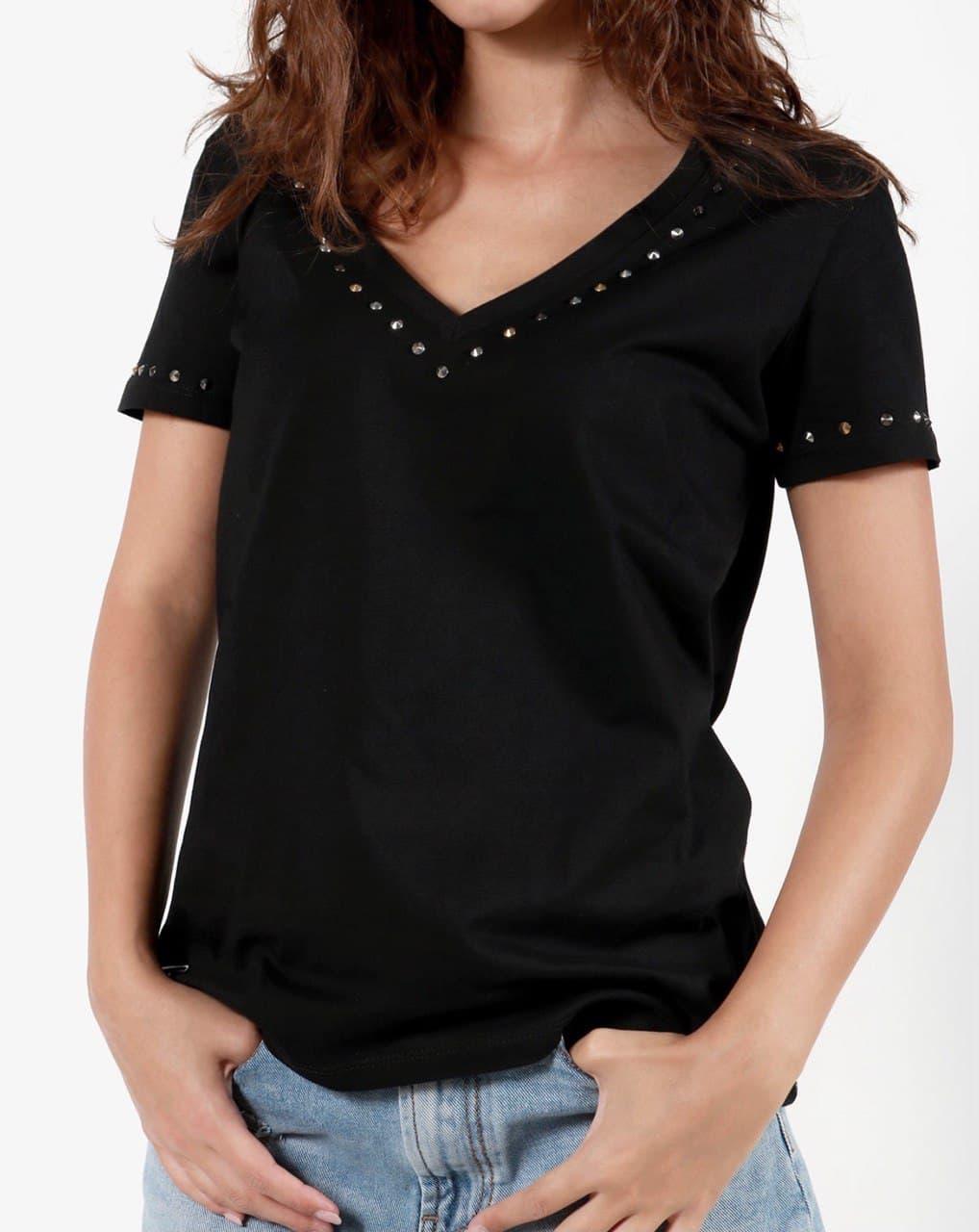 scollo v borchie GIO CELLINI | T-shirt | TSH024NE