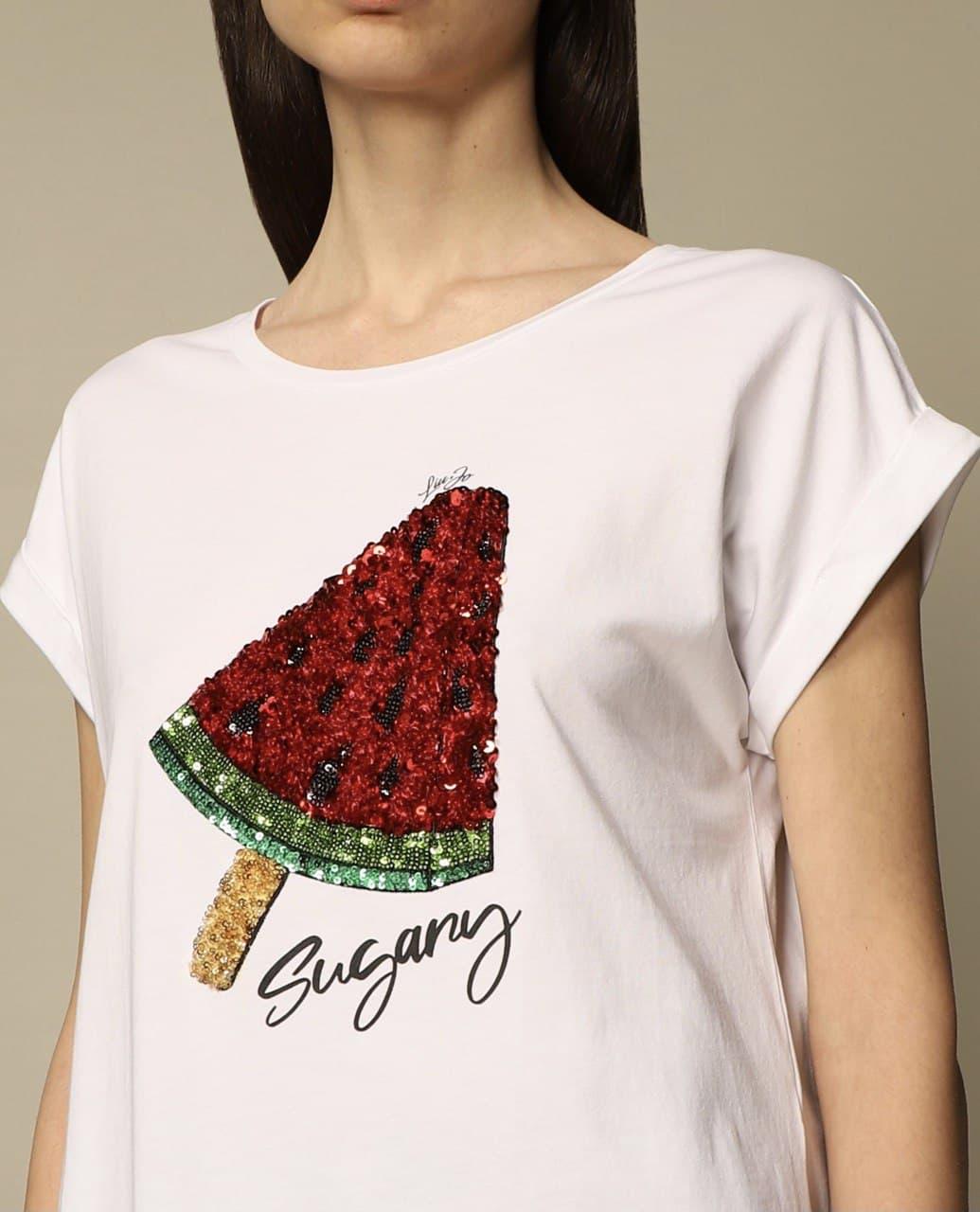 frutta paillettes LIU JO JEANS 1 | T-shirt | WA1175T9590T9588