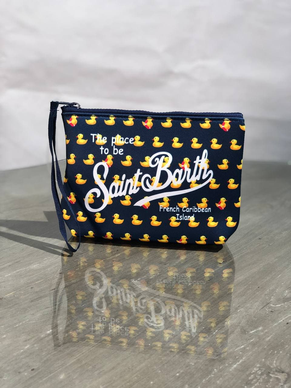 aline ducky neoprene SAINT BARTH   Pochette   ALIN001DUC61BL