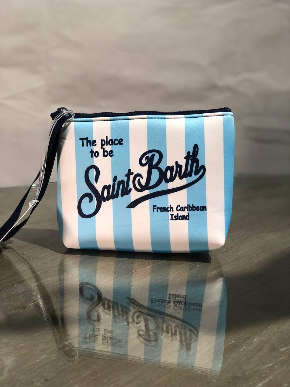 aline stripes  neoprene SAINT BARTH | Pochette | ALIN001LIG31