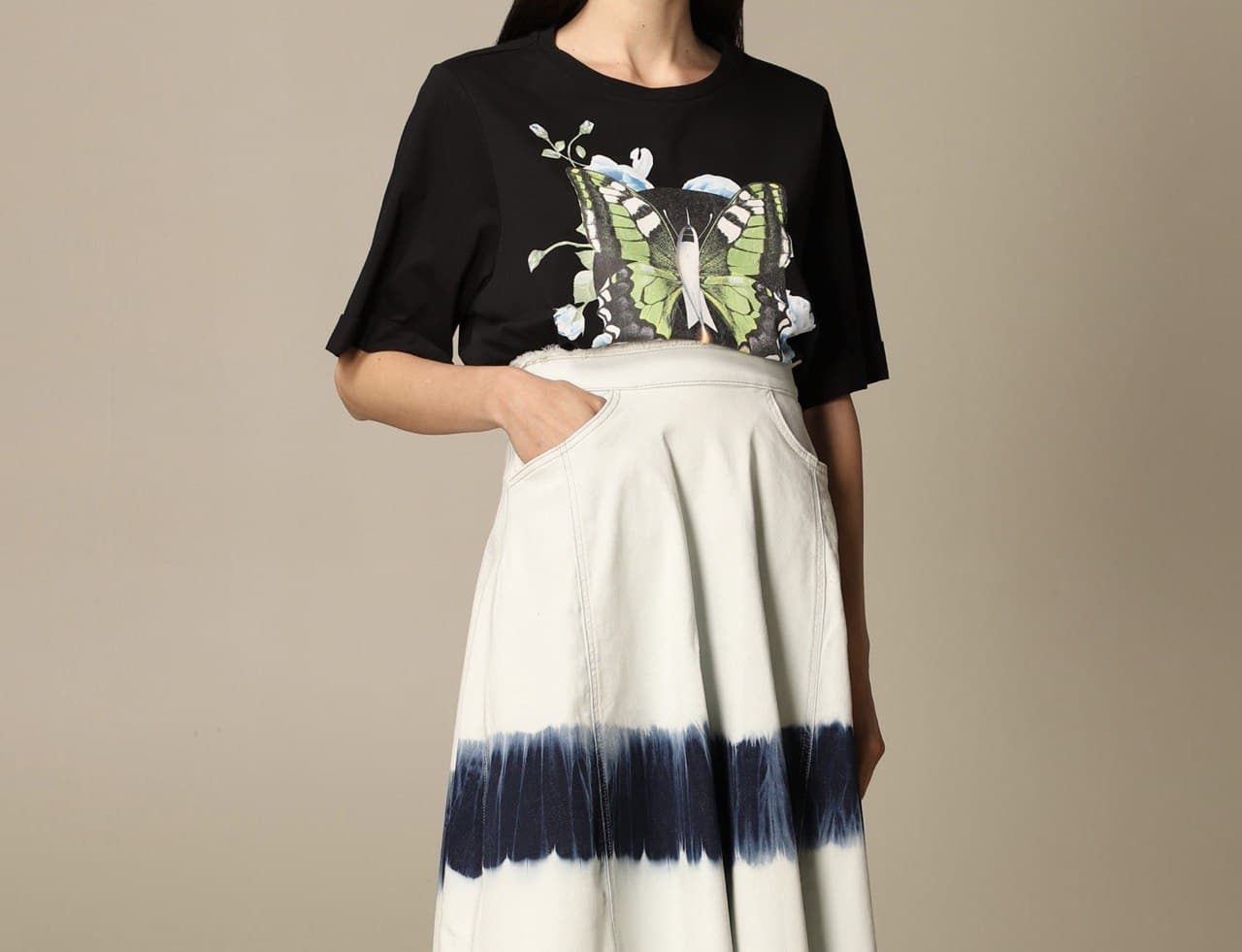over stampa TWIN SET ACTITUDE   T-shirt   211MT256106105