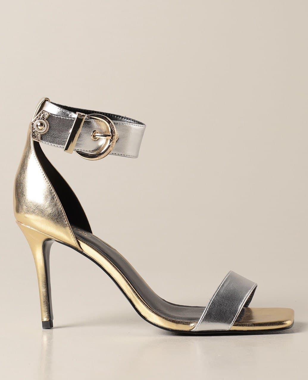 cavigliera laminato oro argento VERSACE JEANS COUTURE | Sandalo | E0VWAS7071980MGD
