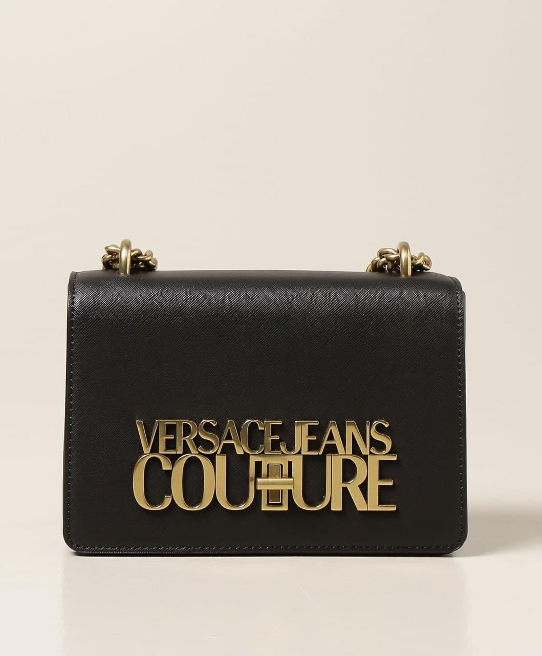 catena  logo ottone saffiano VERSACE JEANS COUTURE   Tracollina   E1VWABL171879899