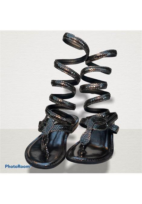 schiava rettile laminato CB FUSION | Sandalo | R217037GUN