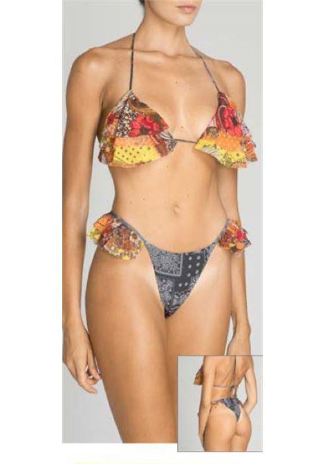 summer love triangolo e slip volant fantasia bandana f**K | Costume | F210650X1NG