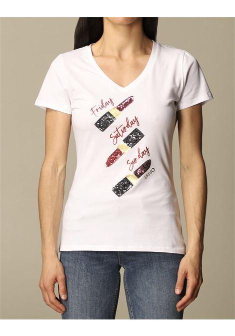 applicazioni rosetti paillettes LIU JO JEANS 1 | T-shirt | WA1270J5003T9930