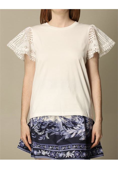 maniche volant merletto TWIN SET COLLECTION | T-shirt | 211TT222A00001