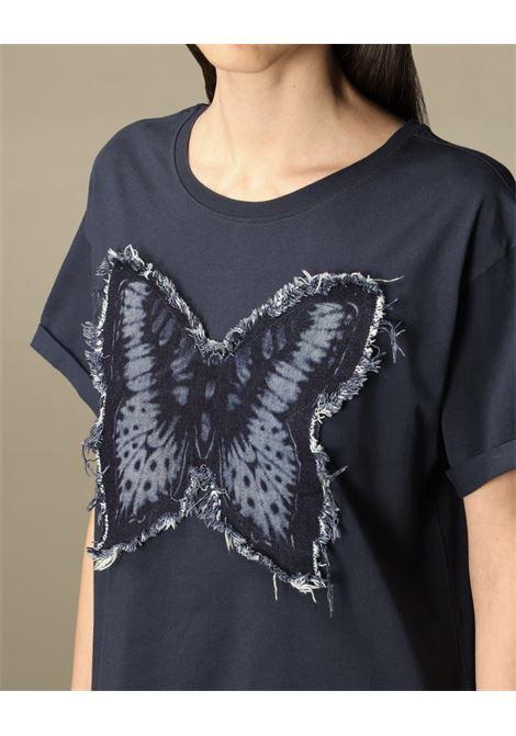 farfalla denim taglio vivo TWIN SET COLLECTION   Maglia   211TT226000384