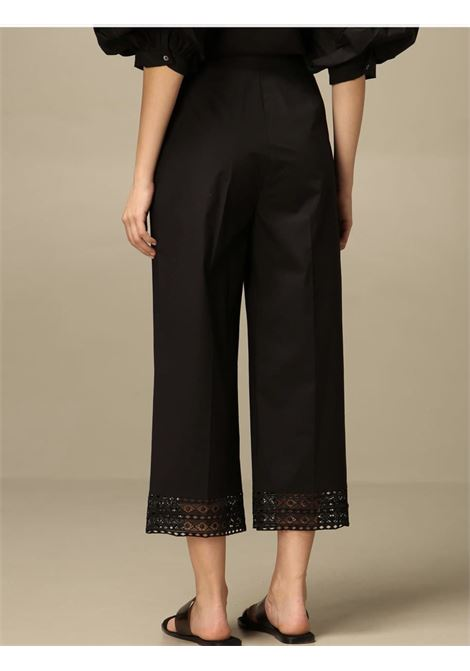 cropped punto a giorno TWIN SET COLLECTION | Pantalone | 211TT246600006