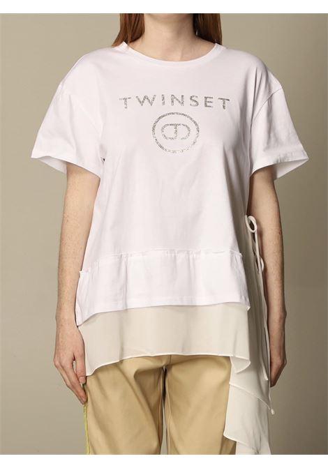 volant fondo chiffon laccetti TWIN SET COLLECTION | T-shirt | 211TT251000001