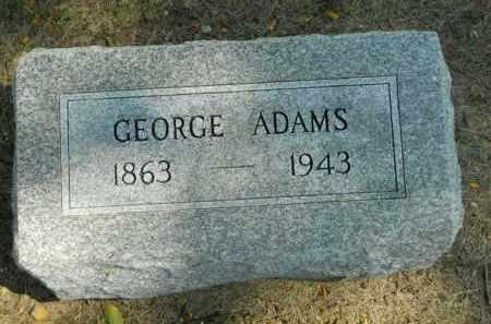 ADAMS, GEORGE - Boone County, Illinois | GEORGE ADAMS - Illinois Gravestone Photos