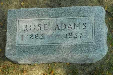 ADAMS, ROSE - Boone County, Illinois | ROSE ADAMS - Illinois Gravestone Photos