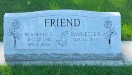 FRIEND, FRANKLIN D. - Boone County, Illinois | FRANKLIN D. FRIEND - Illinois Gravestone Photos