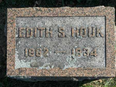 HOUK, EDITH S. - Boone County, Illinois | EDITH S. HOUK - Illinois Gravestone Photos
