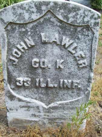 LAWLER [CIVIL WAR], JOHN - Cass County, Illinois | JOHN LAWLER [CIVIL WAR] - Illinois Gravestone Photos