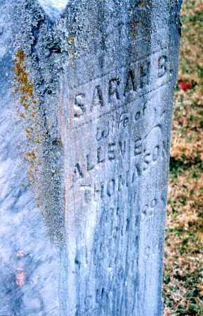 PULLIAM THOMASON, SARAH B. - Clay County, Illinois   SARAH B. PULLIAM THOMASON - Illinois Gravestone Photos