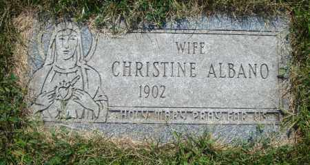 ALBANO, CHRISTINE - Cook County, Illinois | CHRISTINE ALBANO - Illinois Gravestone Photos