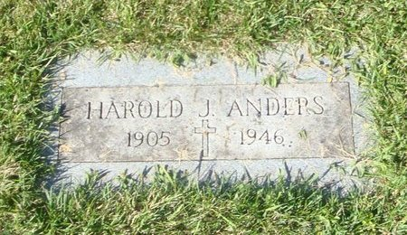 ANDERS, HAROLD J. - Cook County, Illinois | HAROLD J. ANDERS - Illinois Gravestone Photos