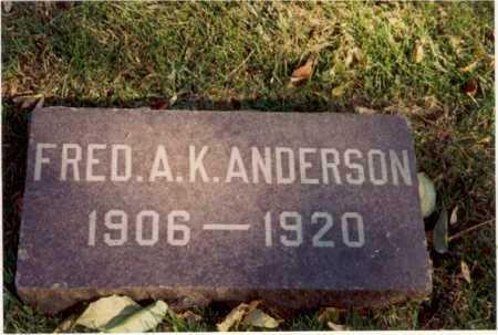 ANDERSON, FRED - Cook County, Illinois | FRED ANDERSON - Illinois Gravestone Photos