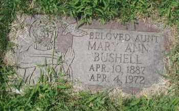 BUSHELL, MARY ANN - Cook County, Illinois | MARY ANN BUSHELL - Illinois Gravestone Photos