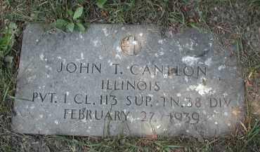 CANTLON, JOHN T. - Cook County, Illinois | JOHN T. CANTLON - Illinois Gravestone Photos