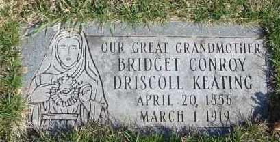 CONROY, BRIDGET - Cook County, Illinois | BRIDGET CONROY - Illinois Gravestone Photos