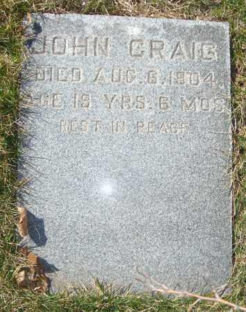 CRAIG, JOHN - Cook County, Illinois   JOHN CRAIG - Illinois Gravestone Photos