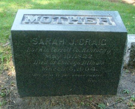 CRAIG, SARAH J. - Cook County, Illinois | SARAH J. CRAIG - Illinois Gravestone Photos
