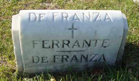 DE FRANZA, FERRANTE - Cook County, Illinois | FERRANTE DE FRANZA - Illinois Gravestone Photos