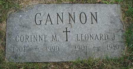 GANNON, CORINNE M. - Cook County, Illinois   CORINNE M. GANNON - Illinois Gravestone Photos