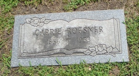 ROESNER, CARRIE - Cook County, Illinois | CARRIE ROESNER - Illinois Gravestone Photos