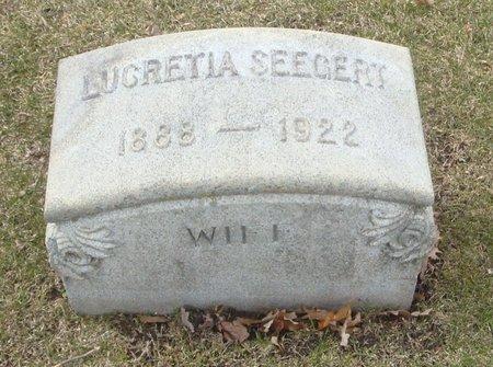 SEEGERT, LUCRETIA - Cook County, Illinois   LUCRETIA SEEGERT - Illinois Gravestone Photos