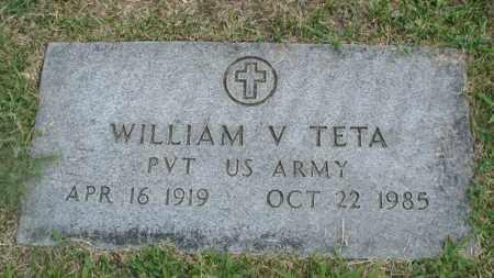 TETA, WILLIAM V. - Cook County, Illinois | WILLIAM V. TETA - Illinois Gravestone Photos