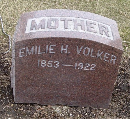 VOLKER, EMILIE H. - Cook County, Illinois | EMILIE H. VOLKER - Illinois Gravestone Photos
