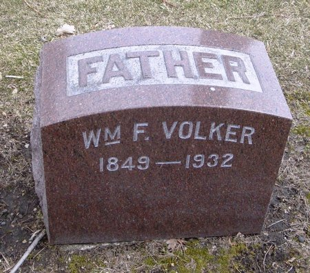 VOLKER, WILLIAM F. - Cook County, Illinois | WILLIAM F. VOLKER - Illinois Gravestone Photos