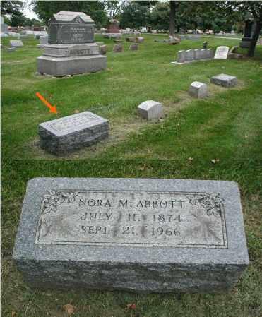 ABBOTT, NORA M. - DuPage County, Illinois   NORA M. ABBOTT - Illinois Gravestone Photos