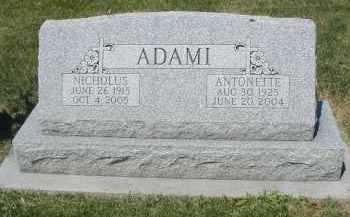 ADAMI, ANTOINETTE - DuPage County, Illinois | ANTOINETTE ADAMI - Illinois Gravestone Photos