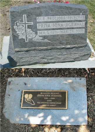 AGRAWAL, PRIYA IONA - DuPage County, Illinois | PRIYA IONA AGRAWAL - Illinois Gravestone Photos
